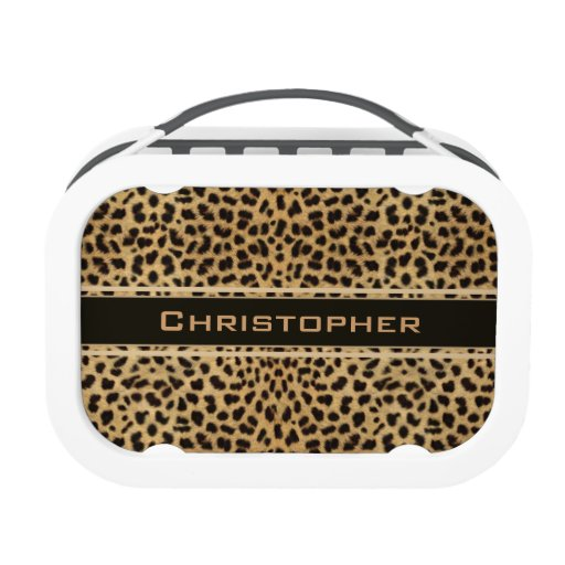 Leopard Skin Pattern Personalize Lunchboxes