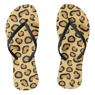 Leopard Skin Print Animal Flip flops Sandals Thongs