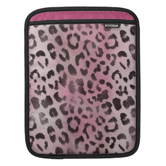 Leopard Skin Print in Pink Rose iPad Sleeve