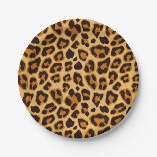 Leopard Skin Print Pattern 7 Inch Paper Plate