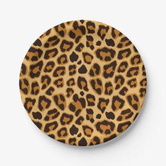 Leopard Skin Print Pattern Paper Plate