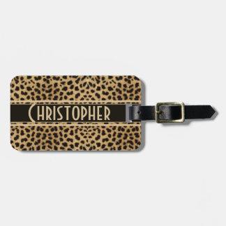 Leopard Spot Address Personalized Luggage Tag