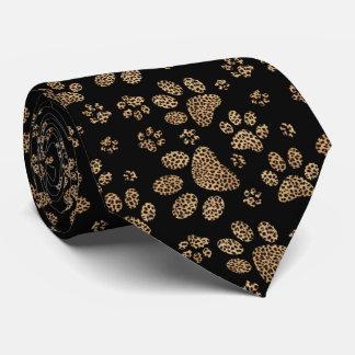 Leopard Spot Paw Prints Design Tie