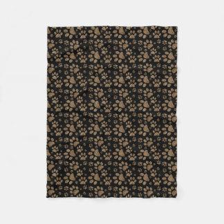 Leopard Spot Paw Prints Fleece Blanket