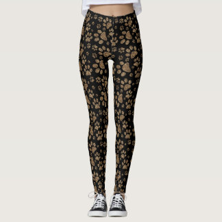 Leopard Spot Paw Prints Leggings