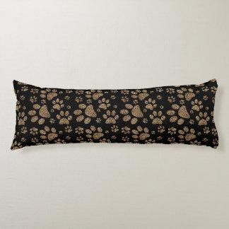 Leopard Spot Paw Prints Rhinestone PHOTO PRINT Body Cushion