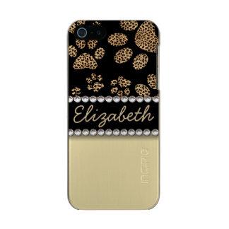 Leopard Spot Paw Prints Rhinestone PHOTO PRINT Incipio Feather® Shine iPhone 5 Case