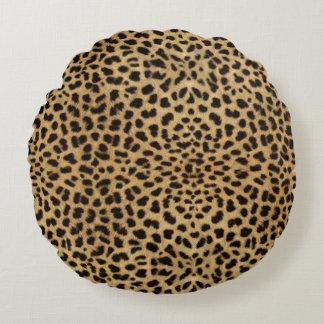 Leopard Spot Skin Print Round Cushion