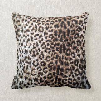 Leopard Spot Wildlife Animal Print Throw Pillow
