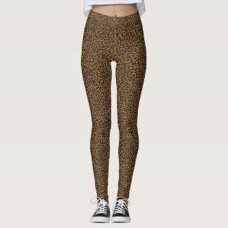 Leopard Spots Animal Print Jogging Yoga Exercise Leggings