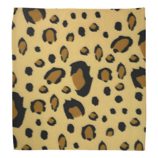 Leopard Spots Brushed Fur Texture Look Bandana