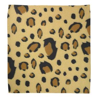 Leopard Spots Brushed Fur Texture Look Head Kerchiefs