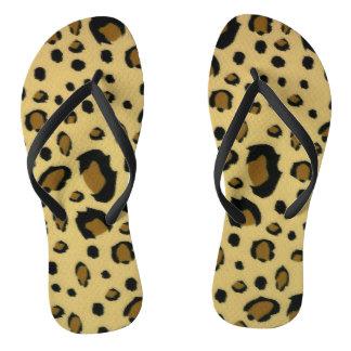 Leopard Spots Brushed Fur Texture Look Thongs