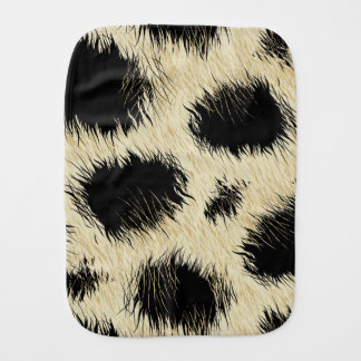 Leopard spots burp cloth