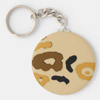 """Leopard Spots""  CricketDiane Art & Design Basic Round Button Key Ring"