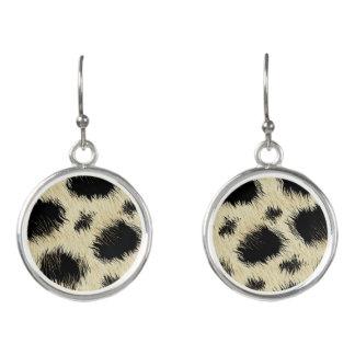 Leopard spots earrings