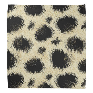 Leopard spots fur bandana