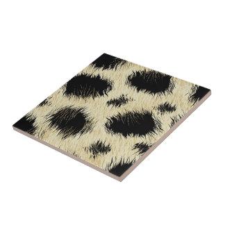 Leopard spots fur ceramic tile