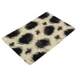 Leopard spots fur floor mat