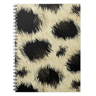 Leopard spots fur spiral notebook