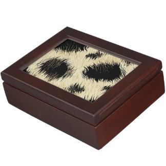 Leopard spots keepsake box
