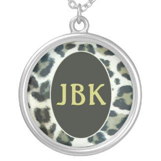 Leopard Spots Monogrammed Necklace