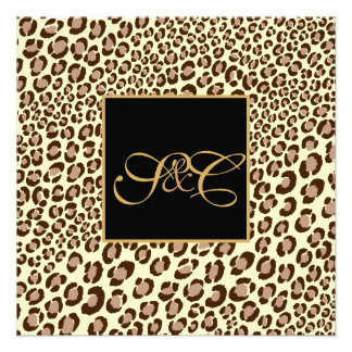 Leopard spots + pearl swirls/vintage announcements