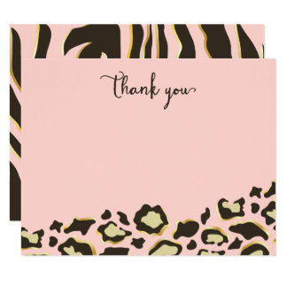 Leopard Spots & Tiger Stripes Thank You Card