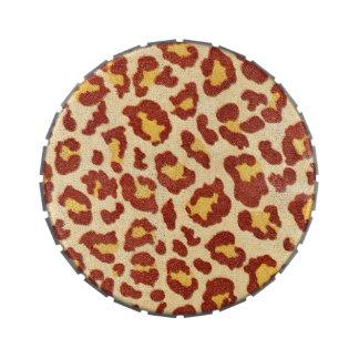 Leopard Spots Ultrasuede Look Jelly Belly Candy Tin
