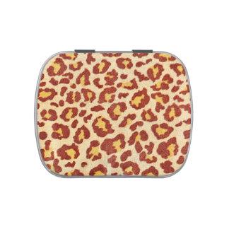 Leopard Spots Ultrasuede Look Jelly Belly Tins