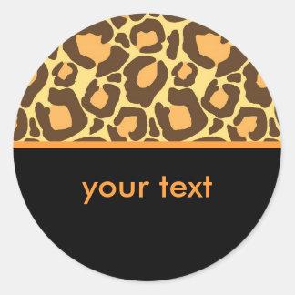 Leopard Round Sticker