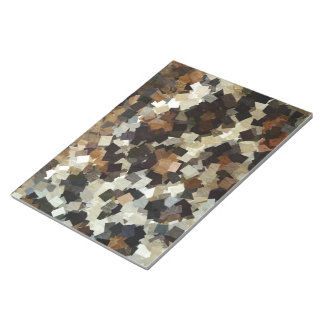 Leopard Style Brown Black Square Pattern Notepad