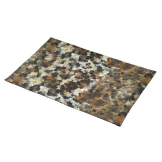 Leopard Style Brown Black Square Pattern Placemat