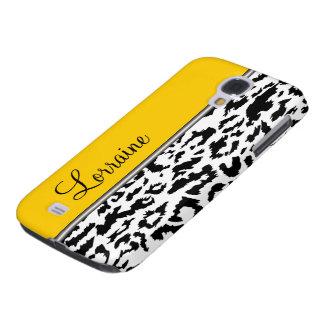 Leopard Style Monogram Galaxy S4 Case