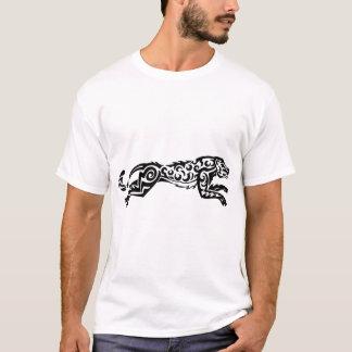 Leopard TattooStyle Design Black White Designs T-Shirt