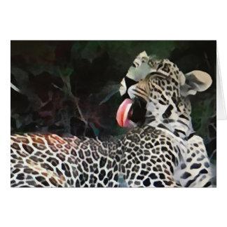 Leopard Tongue Card