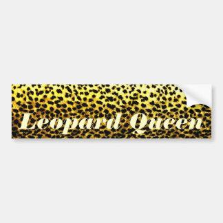 Leopard Wallpaper Bumper Sticker