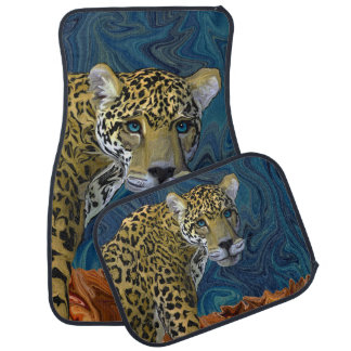 Leopard with the Sky in His Eyes Car Mat
