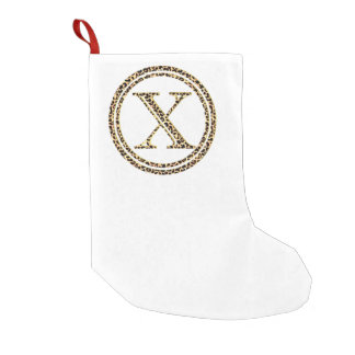 Leopard X Small Christmas Stocking