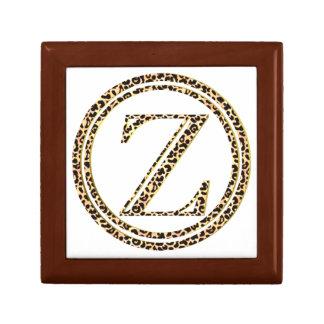 Leopard Z Small Square Gift Box