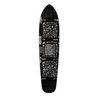 Leopard Zebra Blk&Wht Funky Pattern Skate Board