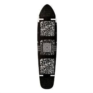 Leopard Zebra Blk&Wht Pattern 19.7 Cm Skateboard Deck