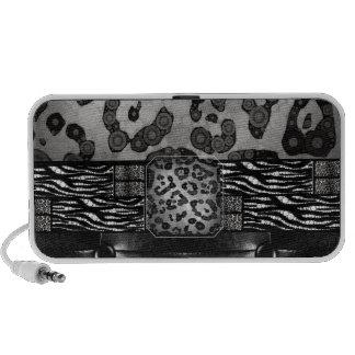 Leopard Zebra Monogr Speaker System