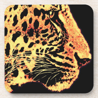 Leopards Face with Whiskers (l3) Drink Coaster