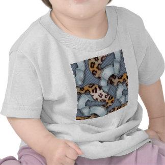 Leopards n Lace - blue - T-shirt