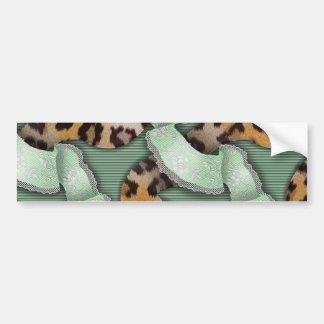 Leopards 'n Lace - green - Bumper Sticker