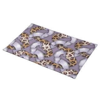 Leopards 'n Lace - purple - Place Mat