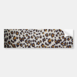 Leopard's texture bumper sticker