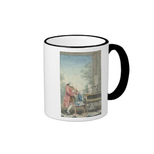 Leopold Mozart  and his Children Wolfgang Mugs