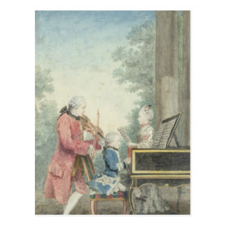 Leopold Mozart  and his Children Wolfgang Postcard